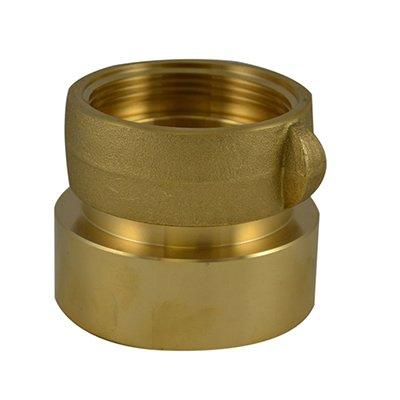 South park corporation SDF33S20AB SDF33S, W/SCRN 4 National Pipe Thread (NPT) Female X 4 National Standard Thread (NST) Female Swivel Brass, Double Female Swivel Coupling with Screen