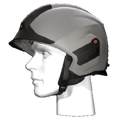 Rosenbauer 157307 Light-weight HEROS-titan Silver Firefighting Helmet