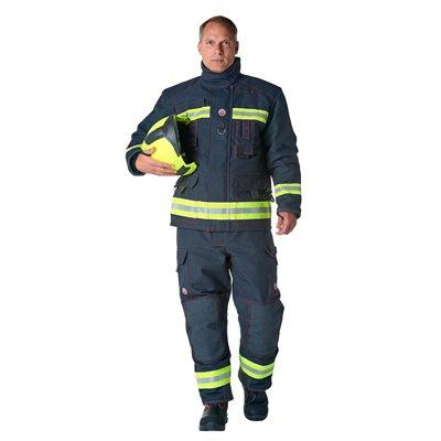 Bristol Uniforms EA2/GO_XR2PA and TEA2/DB_XR2PA Stock Ergotech Action firefighting structural coat and trouser