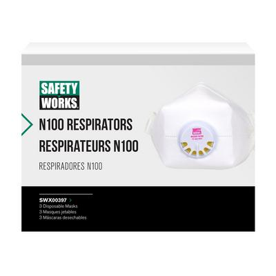 Protective Industrial Products SWX00397 N100 Particulate Disposable Respirator - 3 Pack