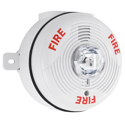 System Sensor PC4WK 4-wire outdoor white horn strobe