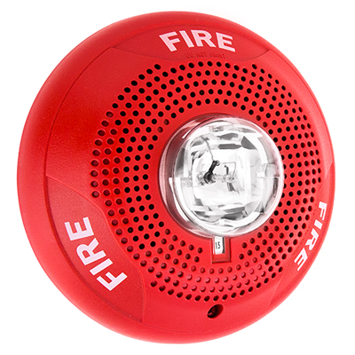 System Sensor SPSCRH red indoor ceiling speaker strobe