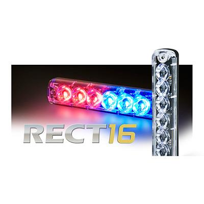 Tomar Electronics RECT-16LS/V dual channel 6 LED mini warning light