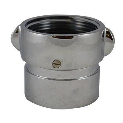 South park corporation SDF33S22MC SDF33S, W/SCRN 4 Customer Thread Female X 4.5 Customer Thread Female Swivel Brass Chrome Plated, Double Female Swivel Coupling with Screen