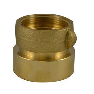 South park corporation SDF3334AB SDF33, 5 National Pipe Thread (NPT) Female IL X 6 National Standard Thread (NST) LH Swivel Brass, Double Female Swivel Coupling