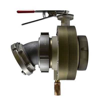 South park corporation BV7840AESH BV78, 4 National Standard Thread (NST) Female X 4 Storz  Butterfly Valve,with Chrome Plated Lever Handle