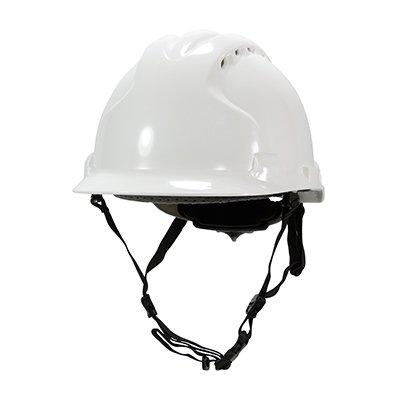 Protective Industrial Products 280-AHS240V Vented, Type II Linesman Hard Hat with HDPE Shell, EPS Impact Liner, Polyester Suspension, Wheel Ratchet Adjustment and 4-Point Chin Strap