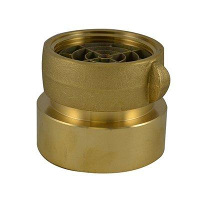 South park corporation SDF3318AB SDF33, 3 National Pipe Thread (NPT) Female IL X 4 National Standard Thread (NST) LH Swivel Adapter Brass, Double Female Swivel Coupling