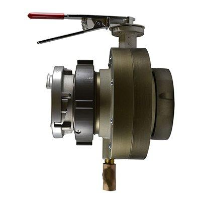 South park corporation BV7872ASH BV78, 6 National Pipe Thread (NPT) Female X 5 Storz   Butterfly Valve,with Chrome Plated Lever Handle