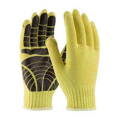 Protective Industrial Products 08-K300PS Seamless Knit Kevlar® Glove with PVC Tiger Paw Grip - Medium Weight