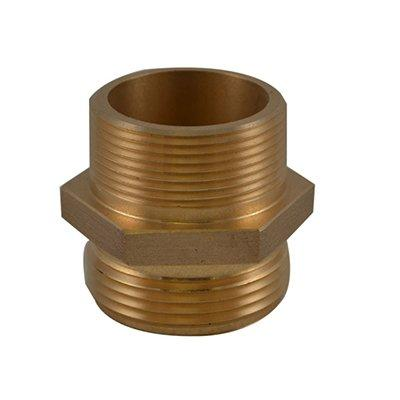 South park corporation HDM3202AB HDM32, 1 National Pipe Thread (NPT) Male X 1 National Standard Thread (NST) Male Nipple Brass, Hex Adapter