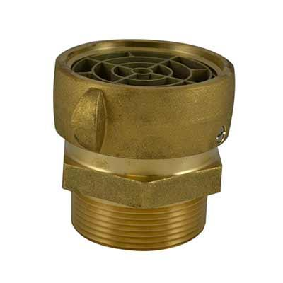 South park corporation SA39S10AB SA39S, 2.5 National Standard Thread (NST) Swivel X 3 Male Adapter Brass W/SCRN,