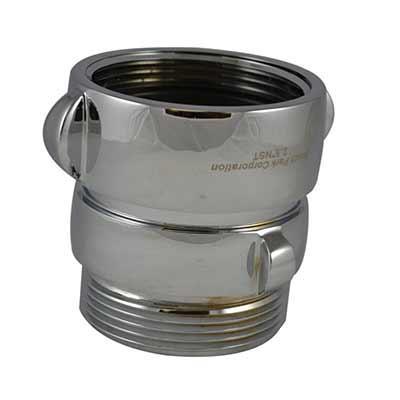 South park corporation SA3906MC SA39, 2.5 Customer Thread Rockerlug Swivel X 2 Customer Thread Male Adapter Brass Chrome Plated,