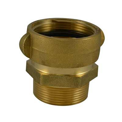 South park corporation SA3904AB SA39, 2.5 National Standard Thread (NST) Rockerlug Swivel X 1.5 National Pipe Thread (NPT) Male Adapter Brass,