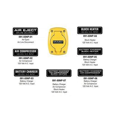 Kussmaul Electronics Co. Inc. 091-55NP-XX Nameplates for 091-55XX Weatherproof Covers