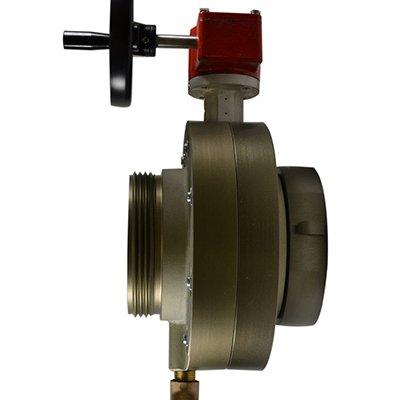 South park corporation BV78H-72AH BV78H, 6 National Pipe Thread (NPT) Female (rigid) x 5 National Standard Thread (NST) Male 6 Butterfly Valve,with Gear Operator, Speed Handwheel