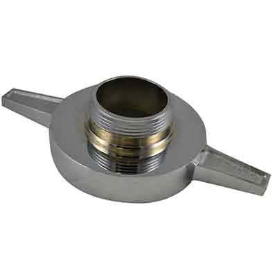 South park corporation LHA4092AC LHA40, 6 National Standard Thread (NST) Female X 4 National Standard Thread (NST) Male Brass Chrome Plated, Adapter, Long Handle Tested to 500 psi