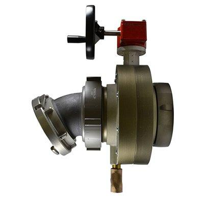 South park corporation BV78H-58AESH BV78H, 5 National Pipe Thread (NPT) Female X 5 Storz  Butterfly Valve,with Gear Operator, Speed Handwheel