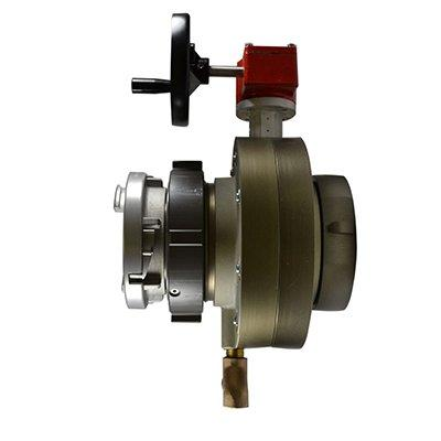 South park corporation BV78H-48ASH BV78H, 5 National Standard Thread (NST) Swivel X 4 Storz  Butterfly Valve,with Gear Operator, Speed Handwheel