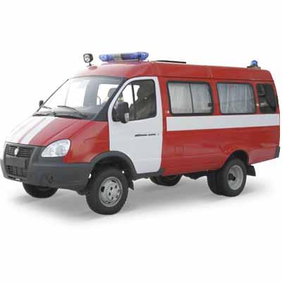 Vargashi FIRE ENGINE AL-5  DB-7 (GAZ-3221) fire engine