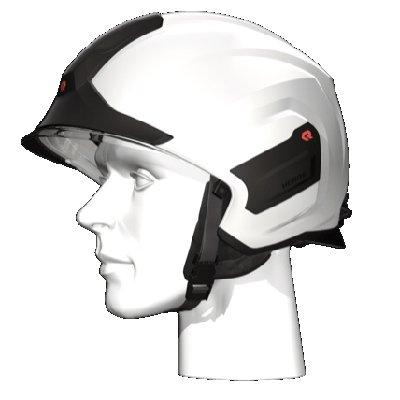 Rosenbauer 157306 light-weight HEROS-titan white firefighting helmet