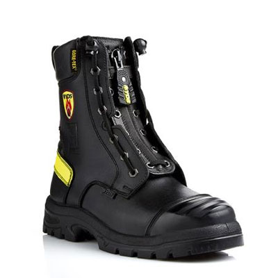 YDS NFSR1198 HADES front zip fire and rescue boot