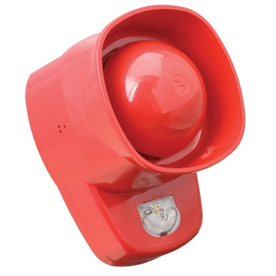UTC Fire & Security ZPW766R ZP7 series, Ziton protocol addressable RED sounder with a built in visual alarm device (VAD)