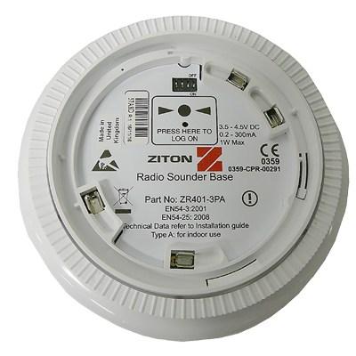 UTC Fire & Security ZR401-3PA Radio Detector Sounder Base