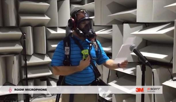 3M Scott demonstrates EPIC 3 RDI Voice Communication System with Saw Noise