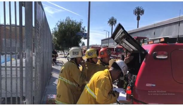 LAFD Firefighters Tackle Major Emergency Fire In South Los Angeles On April 3, 2021